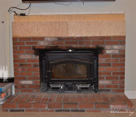 brick fireplace makeover how to cover your brick fireplace modern farmhouse style Modern