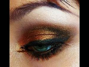 Black and Gold Smokey Eye Tutorial - By Request - YouTube