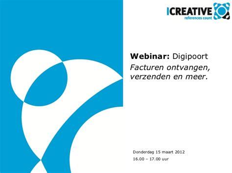 presentatie webinar digipoort  maart