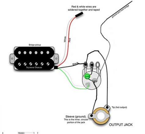 wiring humbucker   volume pot fender stratocaster