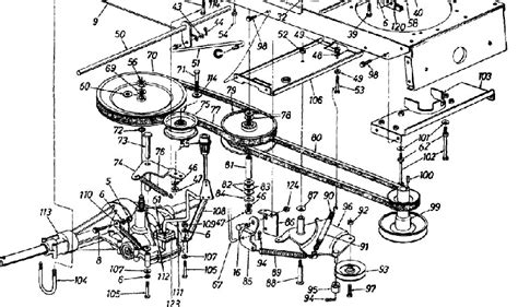 mtd 46 inch deck belt routing 46 inch craftsman mower belt diagram 46 free