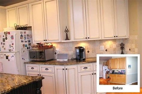 how do i refinish kitchen cabinets kitchen refacing before and after white kitchen cabinet