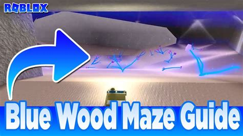 blue wood maze road guide map  lumber tycoon