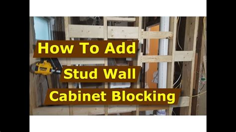 how to install wall kitchen cabinets how to add cabinet wall blocking to stud walls kitchen 8722