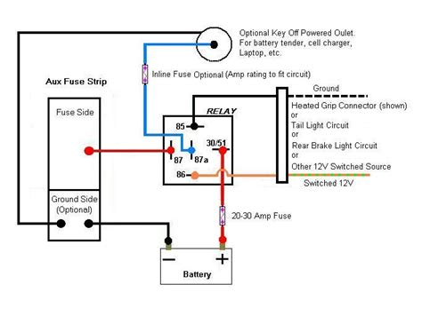 Aux Light Wiring Diagram 5 Wire Relay by 14 Pin Relay Wiring Diagram Topic Aux Fuse Box Wiring