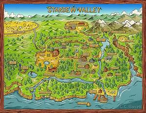 Duvet Size Chart Canada Quot Stardew Valley Map Quot Posters By C C Barrett Redbubble