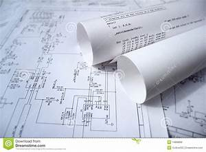 Circuit Diagram And Software Stock Photo