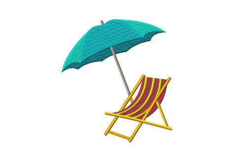 Chair And Umbrella by Chair And Umbrella Machine Embroidery Design Daily