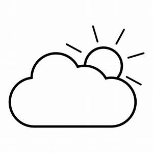Partly cloudy clipart black and white clipartfest 2 ...