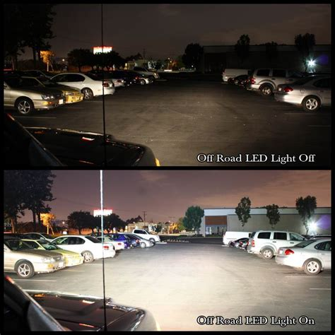 24 120w led work light bar flood spot combo driving l