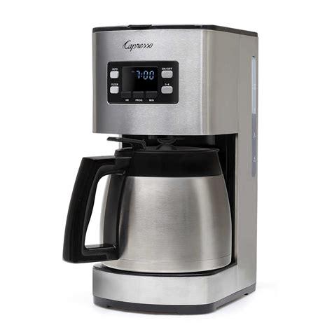 Espresso makers come in stove top or machine varieties. Capresso ST300 Coffee Maker - 10 cup w/Thermal Carafe - Espresso Planet Canada