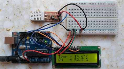 arduino  dht sensor  lcd simple projects