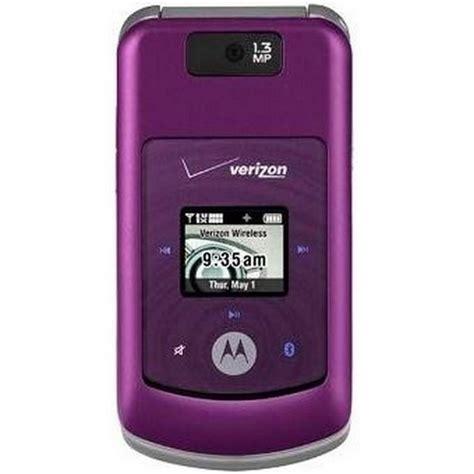 used verizon cell phones for motorola moto w755 purple excellent used verizon flip cell
