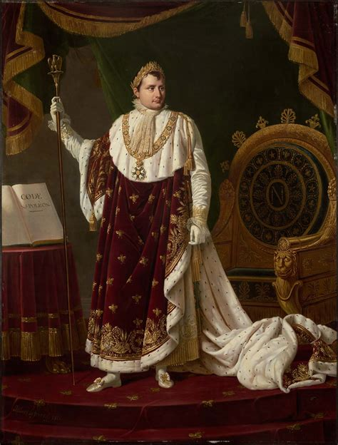 portrait  napoleon    coronation robes museum