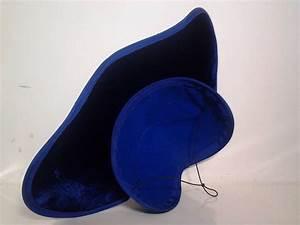 1950s Royal Blue Avant Garde Aerodynamic Sculpted Hat at ...