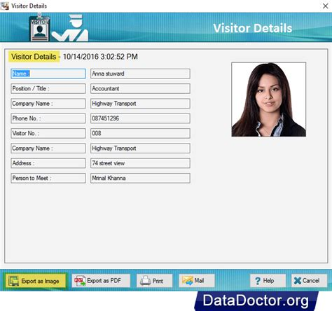 visitors id gate pass maker software design id cards