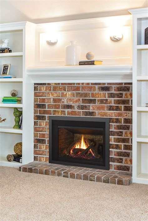 gas inserts images  pinterest gas fireplace