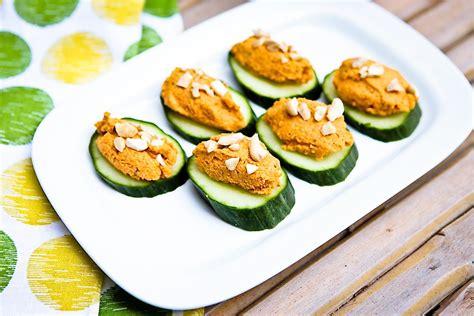 pate canapes carrot cashew pâté cucumber canapé