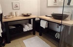 Diy Meuble Salle De Bain : une salle de bain ikea hacks clem around the corner ~ Mglfilm.com Idées de Décoration