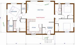 Cozy modern barn house floor plans modern house plan for Pictures of floor plans to houses