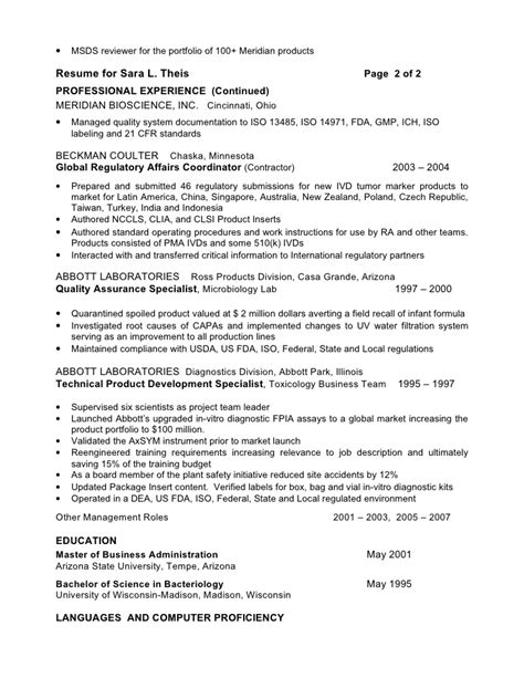Device Regulatory Affairs Resume by Resume Format For Regulatory Affairs Resume Format