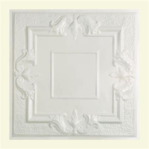 white tin ceiling tiles home depot great lakes tin niagara 2 ft x 2 ft lay in tin ceiling