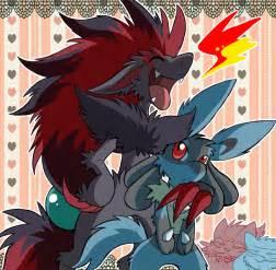 Pokemon Lucario and Zoroark