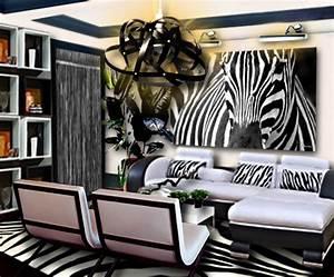 Animaux Décoration Intérieure : un salon noir et blanc inspiration z bre floriane lemari ~ Teatrodelosmanantiales.com Idées de Décoration