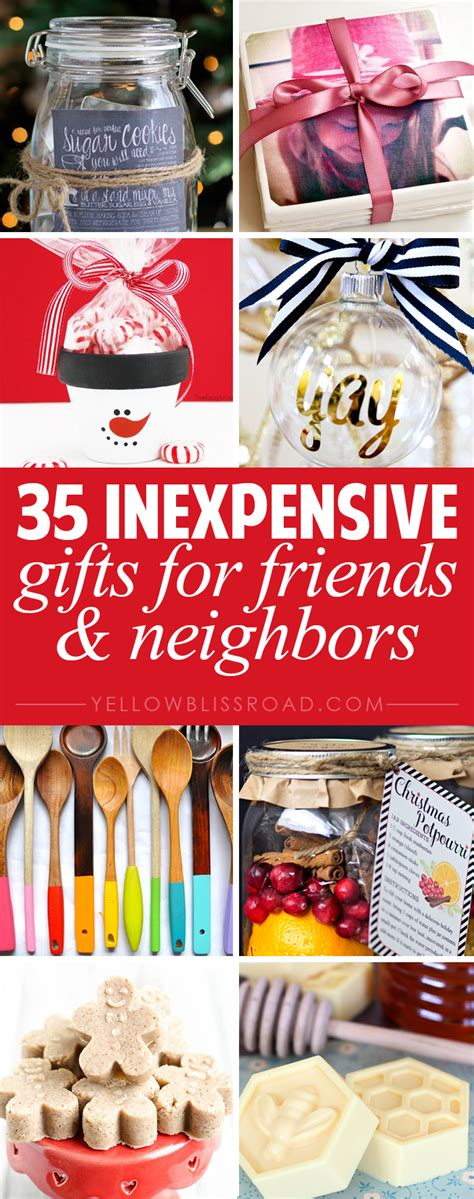 budget gifts ideas for friends and neighbors