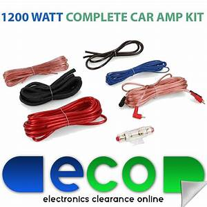 1200 Watt 8 Awg 8 Gauge Car Amplifier Amp Wiring Kit With