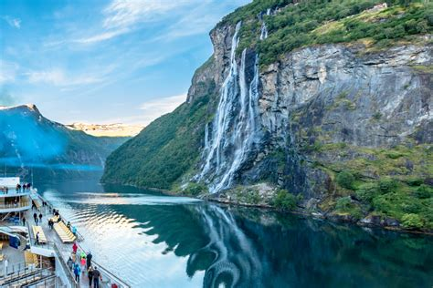 Seven Sisters Waterfall Norway Jigsaw Puzzle In