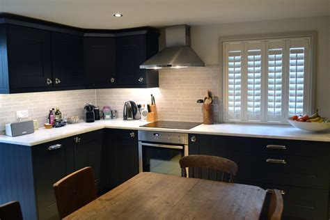 Recently Completed Charcoal Shaker Kitchen ? Herringbone