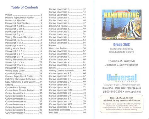 Manuscript Review & Introduction To Cursive  Grade 2mc (universal Handwriting Series) (057638