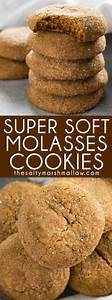 Old Fashioned Soft Molasses Cookies - The Salty Marshmallow