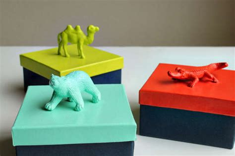 diy plastic figurine packages hellobee animal gift boxes