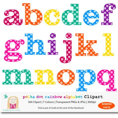 letter clipart rainbow pencil and in color letter