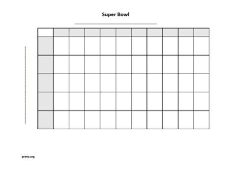 super bowl  square grid