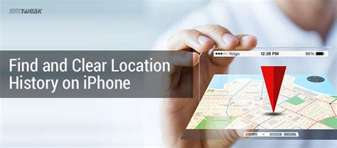 how to find and clear location history on iphone