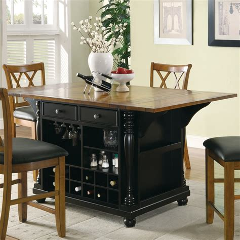 black kitchen island table shop coaster fine furniture 64 in l x 42 in w x 36 in h black craftsman kitchen islands at lowes com