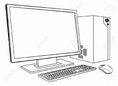 Computer Clipart Pc Ordinateur Desktop Workstation Bureau