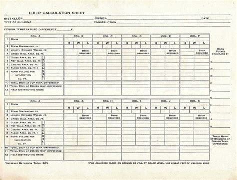 hvac residential load calculation worksheet and