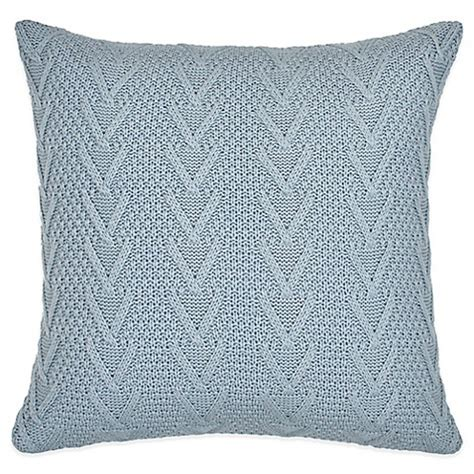 light blue throw pillows buy flatiron home cable knit square throw pillow in light