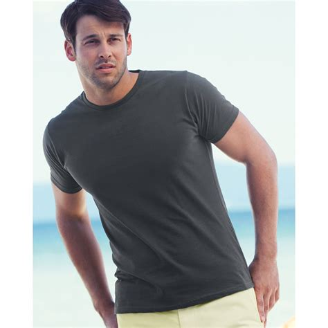 fruit   loom mens fitted valueweight  shirt