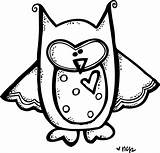 Melonheadz Owl Clip Clipart Friend Always Coloring Cute Pages Cliparts Frog Teacher Animal Stamps Gretel Hansel Clipartmag Library Melonheadzillustrating 1538 sketch template