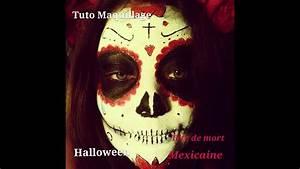 Tete De Mort Mexicaine Femme : tutoriel maquillage halloween t te de mort mexicaine youtube ~ Melissatoandfro.com Idées de Décoration