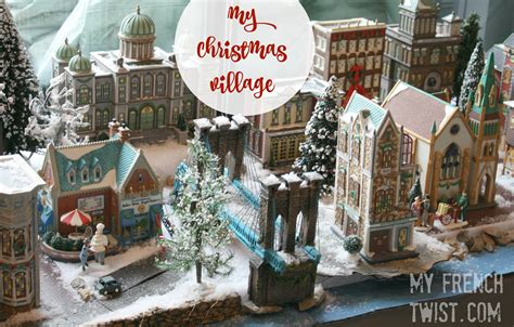 setting   realistic christmas village  french twist