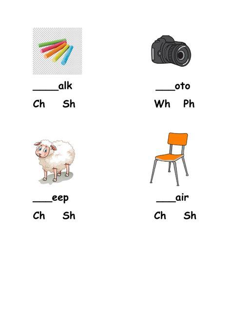 phonics wh sh ph ch worksheet
