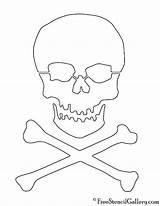 Skull Crossbones Stencil Printable Template Stencils Pirate Pumpkin Carving Templates Freestencilgallery Halloween Coloring sketch template