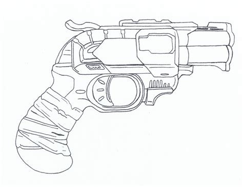 Zombie Strike Nerf Gun Coloring Pages Sketch Coloring Page