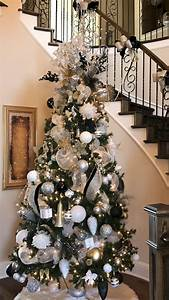 45, Awesome, Silver, And, White, Christmas, Tree, Decorating, Ideas